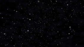 Sterren en kosmische mist in ruimte stock footage