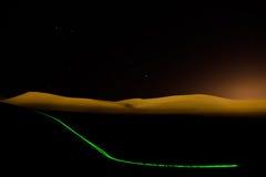 Sterren en laser in de woestijn Royalty-vrije Stock Afbeeldingen