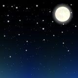 Sterren en maan stock illustratie