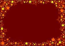 Sterren en Rode Achtergrond Royalty-vrije Stock Foto