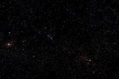 Sterren en sterrige de nachtachtergrond van de melkweg ruimtehemel Royalty-vrije Stock Foto