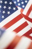 Sterren en Strepen Amerikaans Vlagclose-up royalty-vrije stock foto