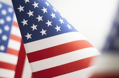 Sterren en Strepen Amerikaans Vlagclose-up stock foto