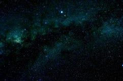 Sterren en van de de hemelnacht van de melkwegkosmische ruimte het heelalachtergrond Royalty-vrije Stock Afbeelding