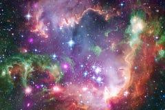 Sterren, melkwegen en nebulas in ontzagwekkend kosmisch beeld royalty-vrije illustratie