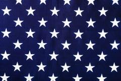 sterren op de Amerikaanse vlag stock afbeelding