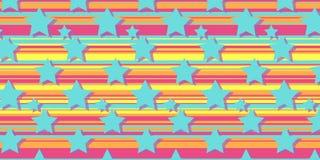 Sterren op een multi-colored achtergrond Vector Illustratie
