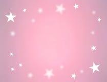 Sterren op roze kleur Stock Fotografie