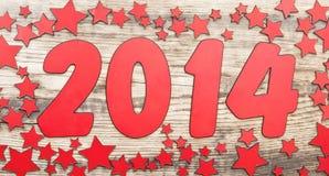 Sterrenachtergrond en nummer 2014 Stock Foto's