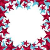 Sterrengrens in eigentijdse geometrische stijl wordt gemaakt die Royalty-vrije Stock Afbeeldingen