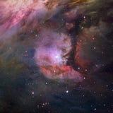 Sterrennevel in ruimte Stock Afbeeldingen