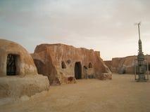 Sterrenoorloglandschap Tatooine Stock Foto