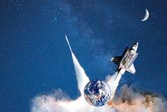 Sterrenvervoer voor ruimtetoerisme reis in kosmische ruimte stock illustratie