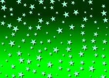 Sterrige achtergrond in groen Royalty-vrije Stock Fotografie