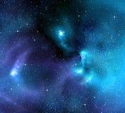 Sterrige achtergrond van diepe kosmische ruimte Stock Foto