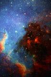 Sterrige achtergrond van diepe kosmische ruimte Royalty-vrije Stock Foto