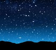 Sterrige hemel bij nacht Stock Foto