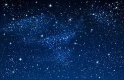 Sterrige Hemel en Melkweg royalty-vrije illustratie
