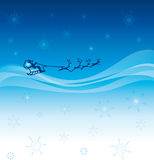 Sterrige hemel met Kerstman op zijn ar Royalty-vrije Stock Foto's