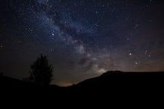 Sterrige hemel met Melkweg royalty-vrije stock foto's