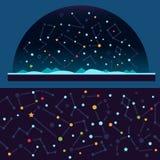 Sterrige hemel, ruimte stock illustratie