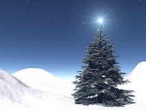 Sterrige Kerstmis Royalty-vrije Stock Afbeeldingen