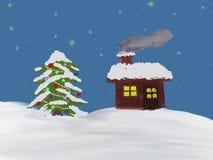 Sterrige Kerstnacht Stock Fotografie