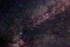 Sterrige kosmische ruimte Stock Foto's