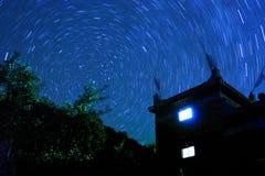 Sterrige nacht Stock Foto