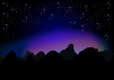 Sterrige nacht Royalty-vrije Stock Afbeelding