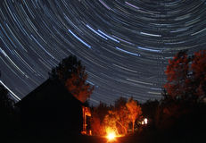 Sterrige nacht Royalty-vrije Stock Fotografie