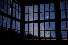 Sterrige nacht Stock Afbeelding