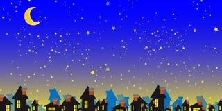 Sterrige nacht Stock Afbeeldingen