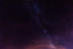 Sterrige Nacht boven Tenerife Royalty-vrije Stock Afbeeldingen