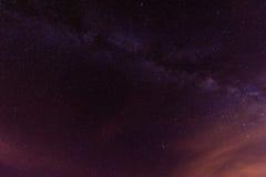 Sterrige Nacht boven Tenerife Stock Afbeelding
