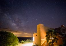 Sterrige Nacht over Mesa Verde, Colorado royalty-vrije stock afbeeldingen