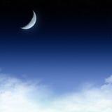 Sterrige nachtachtergrond Stock Fotografie