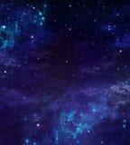 Sterrige nachthemel stock illustratie