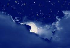 Sterrige, sterrige nacht Royalty-vrije Stock Foto