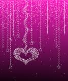 Sterrige Valentijnskaart Royalty-vrije Stock Afbeelding