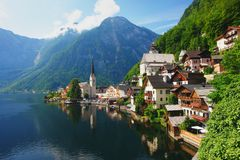 Österrike hallstatt Arkivfoto