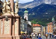 Österrike innsbruck gata Fotografering för Bildbyråer