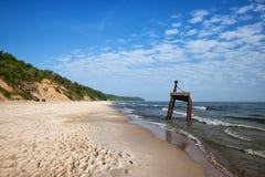 Östersjön strand och kust i Polen Arkivfoto