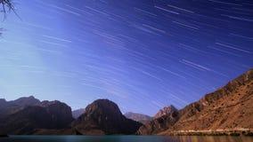 Stersporen Tadzjikistan, iskander-Kul Timelapse stock video