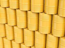 Sterta żółte nafciane baryłki Zdjęcie Royalty Free