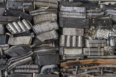 Sterta aluminium od samochodowych części Fotografia Royalty Free