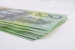 Sterta australijczyk Sto Dolarowych banknotów Obraz Royalty Free