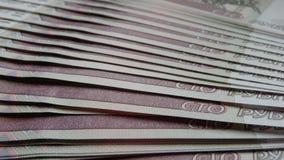 Sterta banknotów ruble Zdjęcia Stock