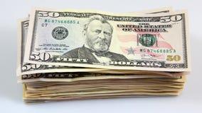 Sterta banknoty, dolarowi rachunki zdjęcia royalty free