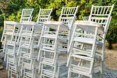 Sterta biały krzesło fotografia stock
